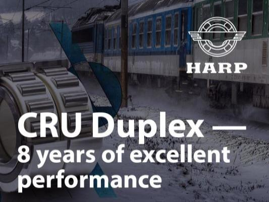 HARP bearings – 8 years of excellent performance on the railways